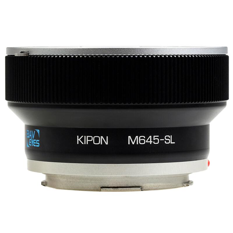 Kipon Baveyes Adapter Mamyia 645 auf Leica SL (0.7x)