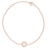 Armband Flower rosevergoldet echt Silber
