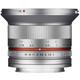 Samyang 12/2,0 MFT Silber + UV Filter