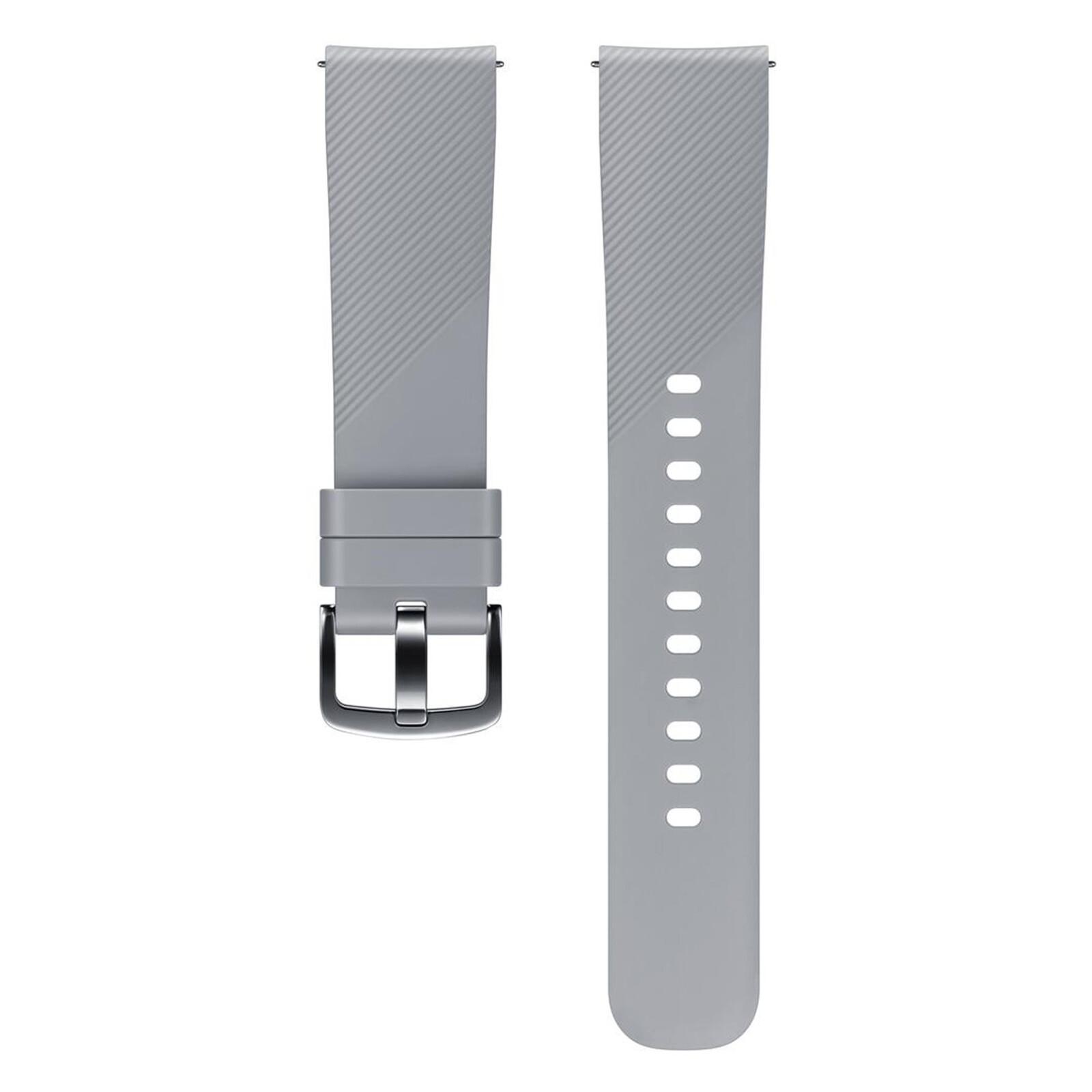 Samsung Band 20mm Sport Armband Silikon Grau