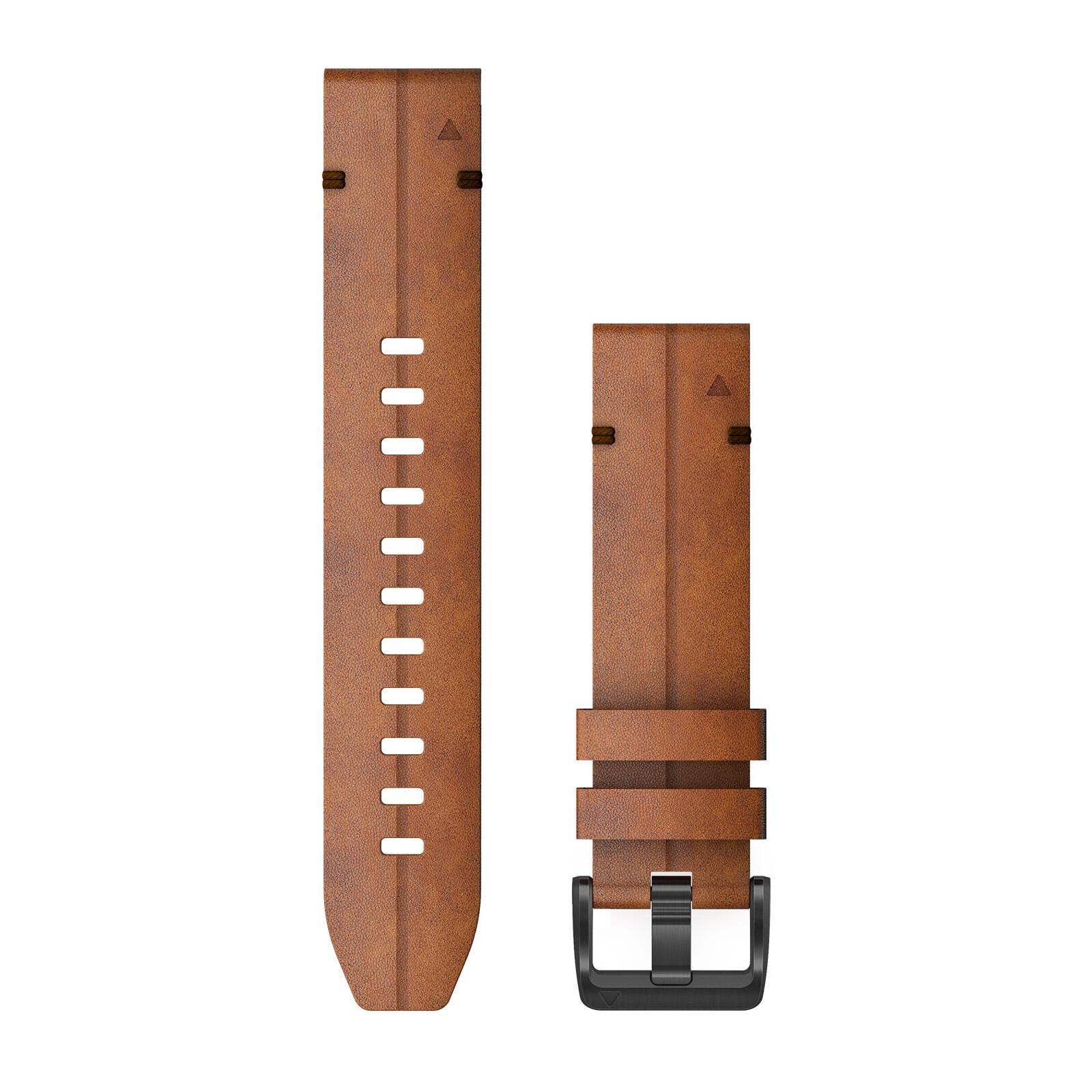 Garmin Quickfit Band 22mm Leder braun schwarz