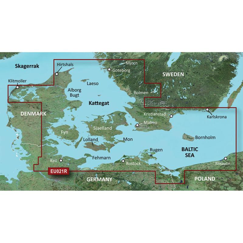 Garmin Blue Chart Denmark East-Sweden Southeast