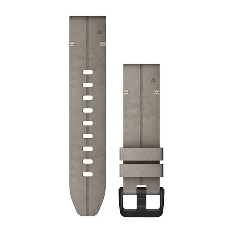 Garmin Quickfit Band 20mm S/M Leder dunkelgrau schwarz