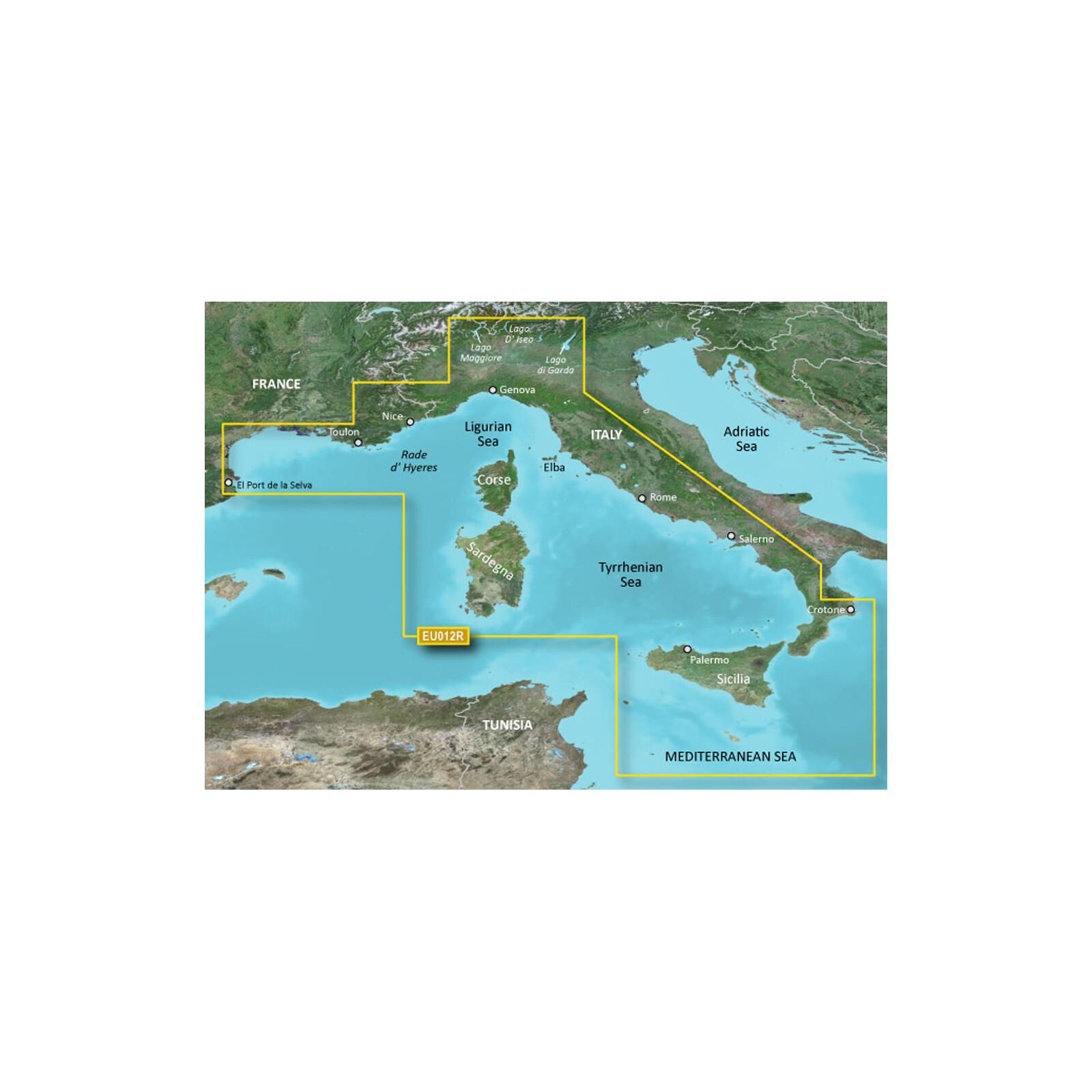 Garmin HXEU012R - Mediterranean Sea, Central-West mSD