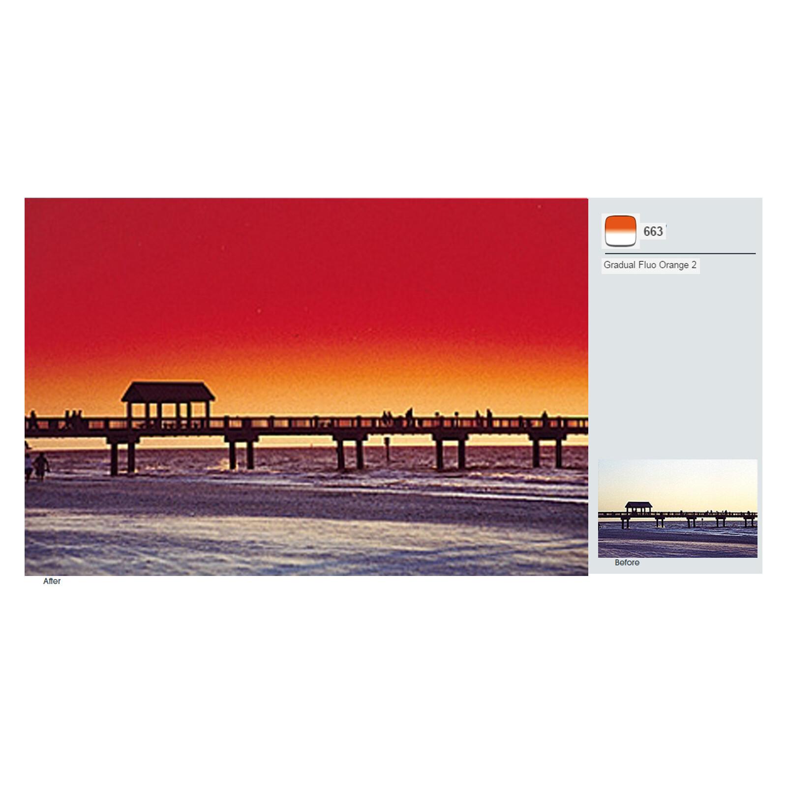 Cokin A663 Verlauf leuchtend Orange 2