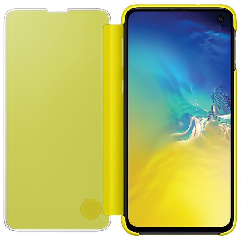 Samsung Book Tasche C-View Galaxy S10e gelb