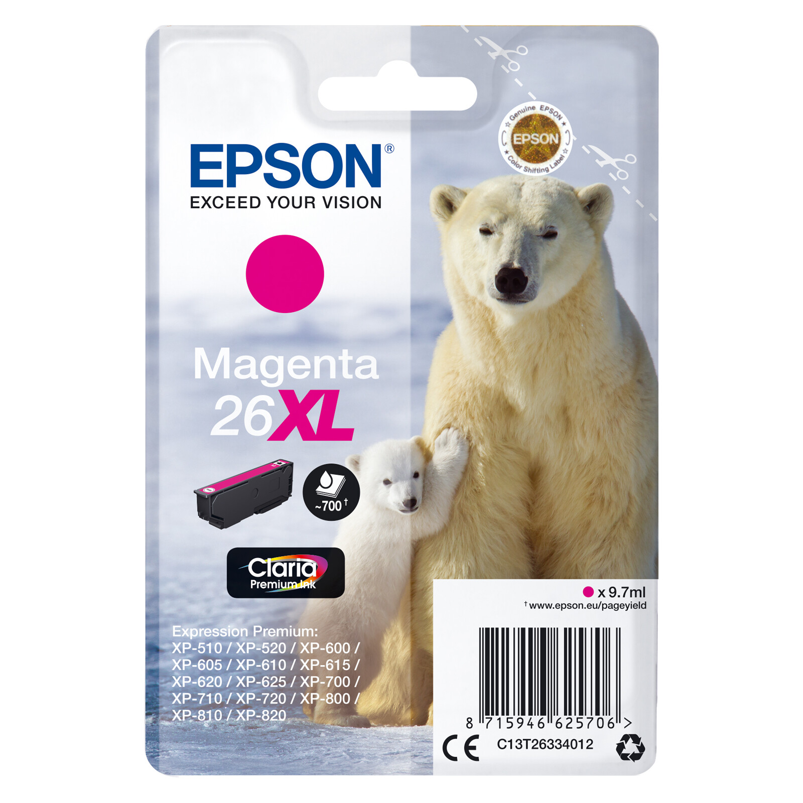 Epson 26XL T2633 Tinte Magenta 9,7ml