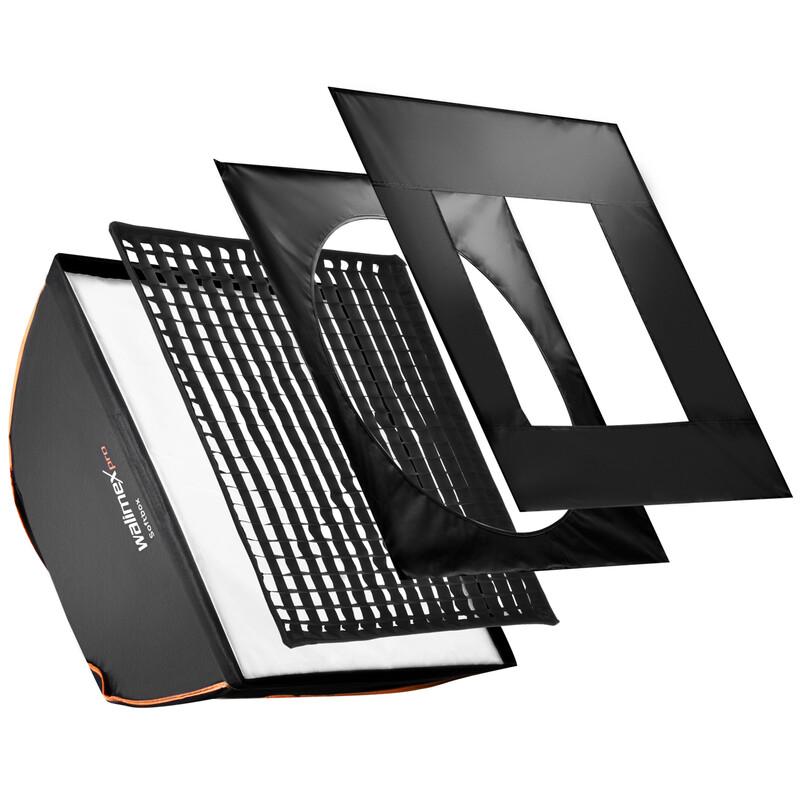 walimex pro Softbox PLUS OL 90x90cm + Uni Adapter