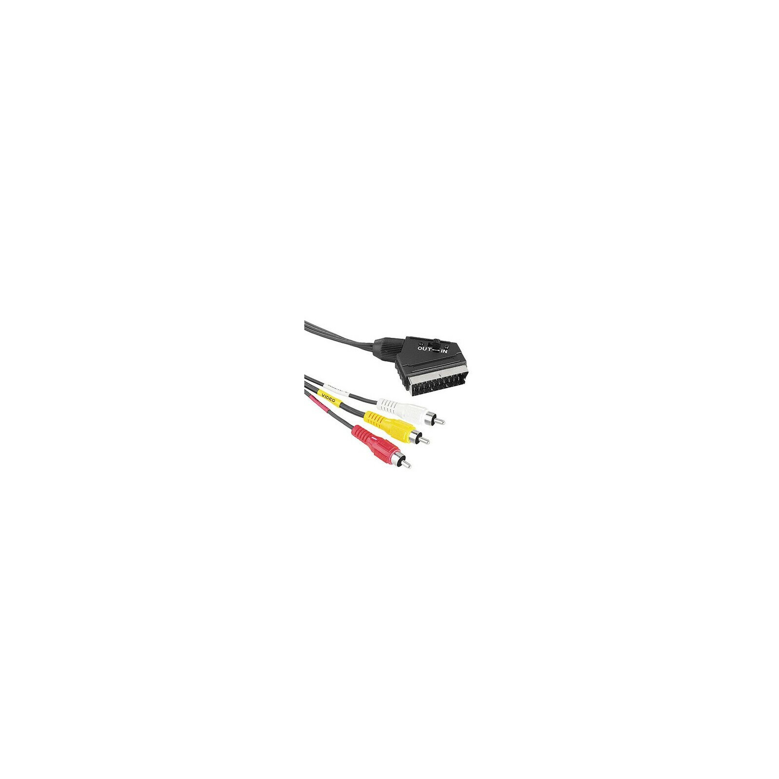 Hama 43178 Video-Kabel Scart-Stecker - 3 Cinch-Stecker (Vide