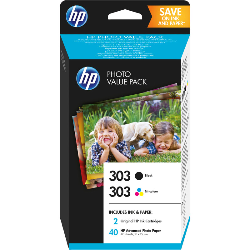 HP 303 Z4B62EE Photo Value Pack Inks + Photo Paper
