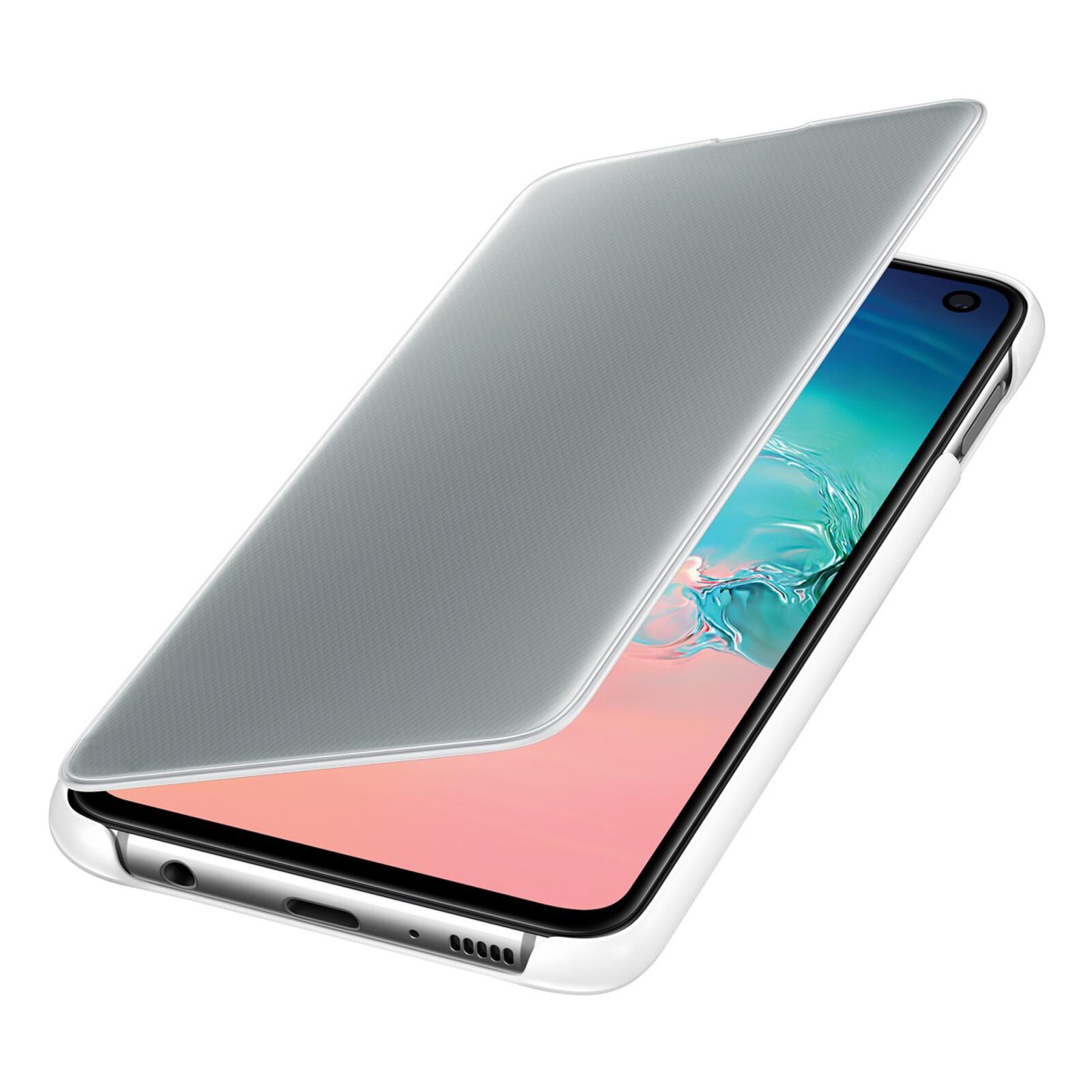 Samsung Book Tasche C-View Galaxy S10e weiß