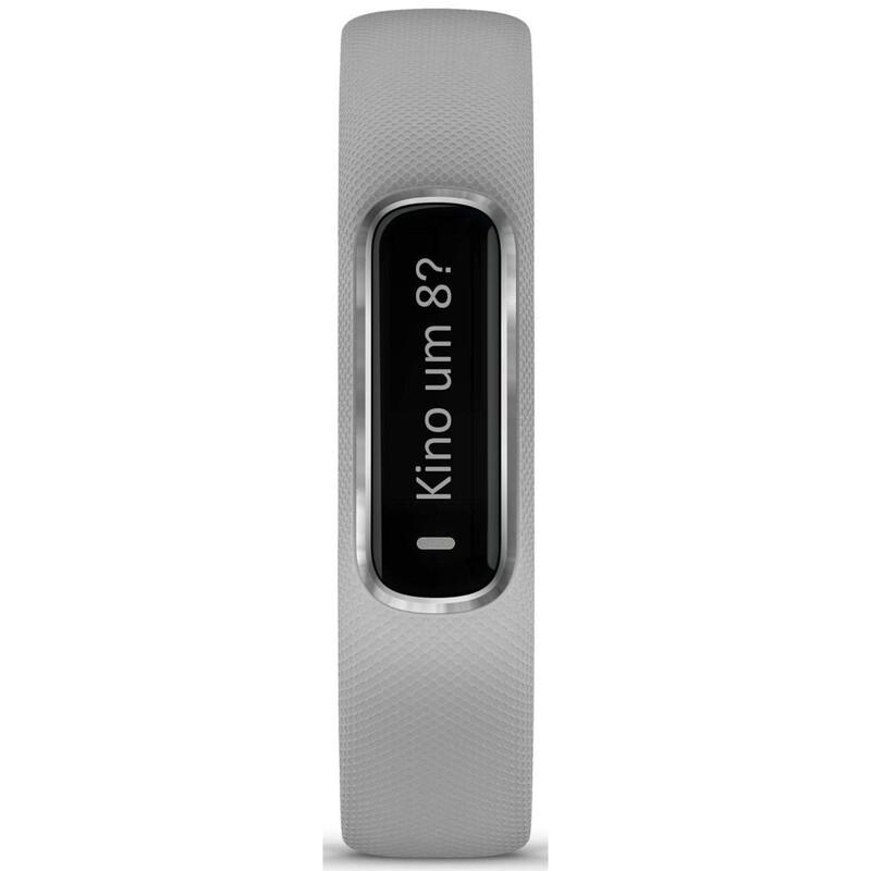 Fitness-Tracker Garmin Vivosmart 4 S/M Hellgrau/Silber