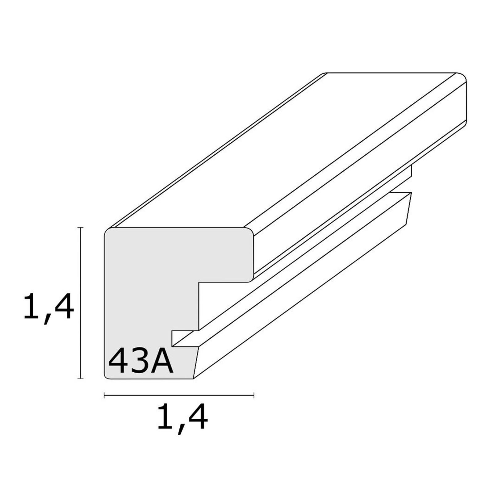Bilderrahmen Deknudt 15x15cm Holz grau/weiß S43AL7