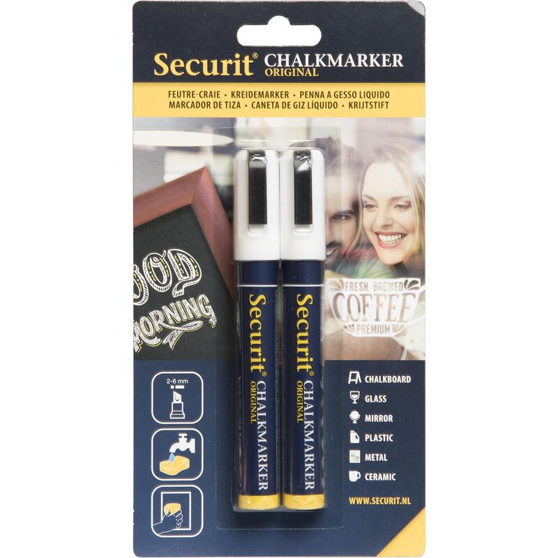 Securit Kreidestifte 2-6mm 2er weiß