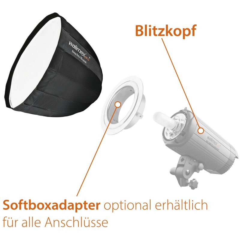 Walimex pro Studio Line Deep Rota Softbox QA70 Elinchrom