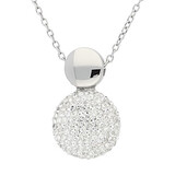 Edelstahlkette Kristalle Silber