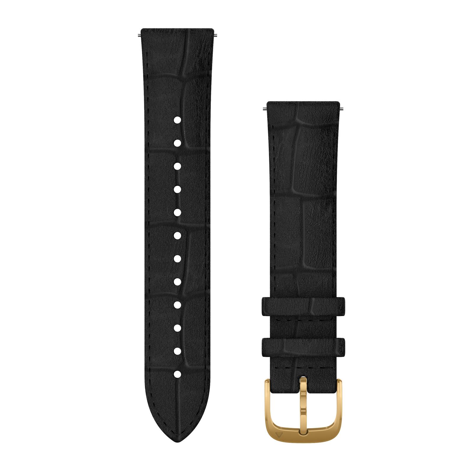 Garmin Uhrenarmband Vivomove 20mm Leder Schwarz