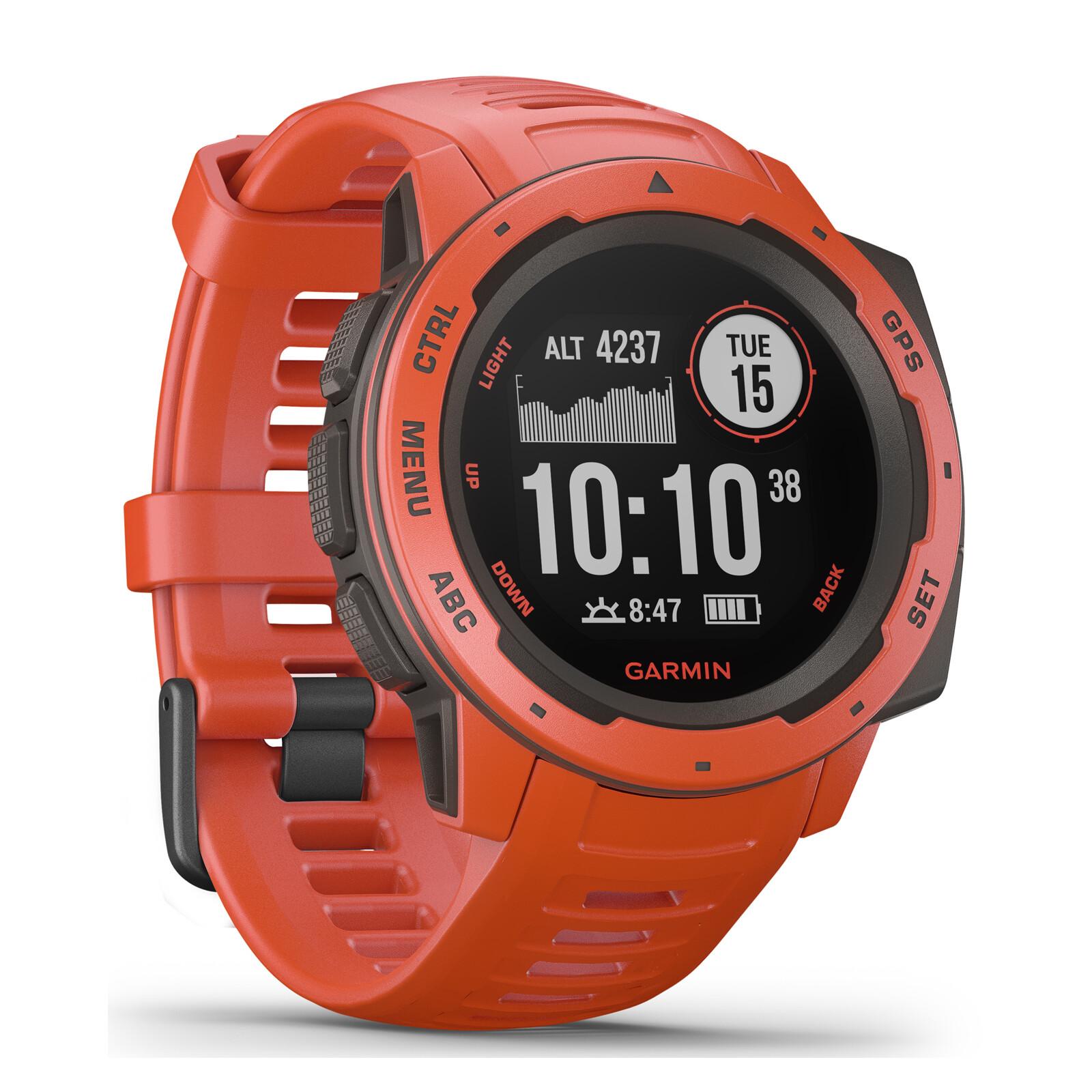 Garmin Instinct Hellrot/Schiefergrau Smartwatch