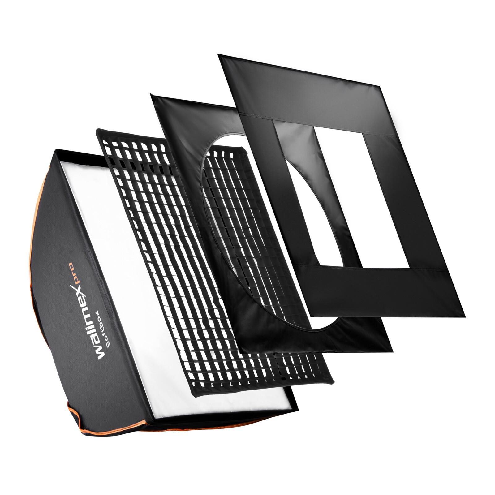walimex pro Softbox PLUS Orange Line 60x90