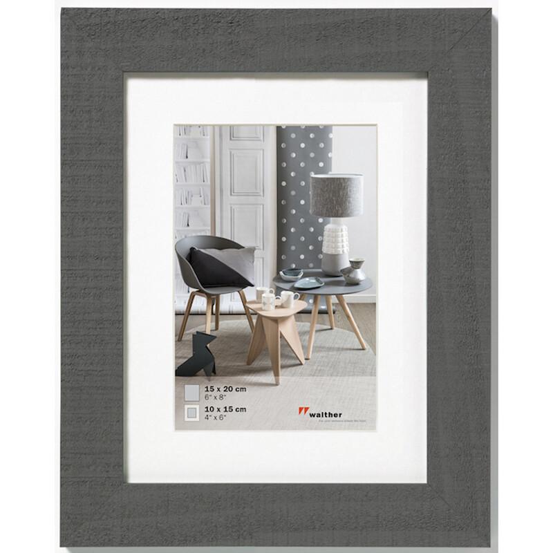 Rahmen Home 15x20 Holz Grau
