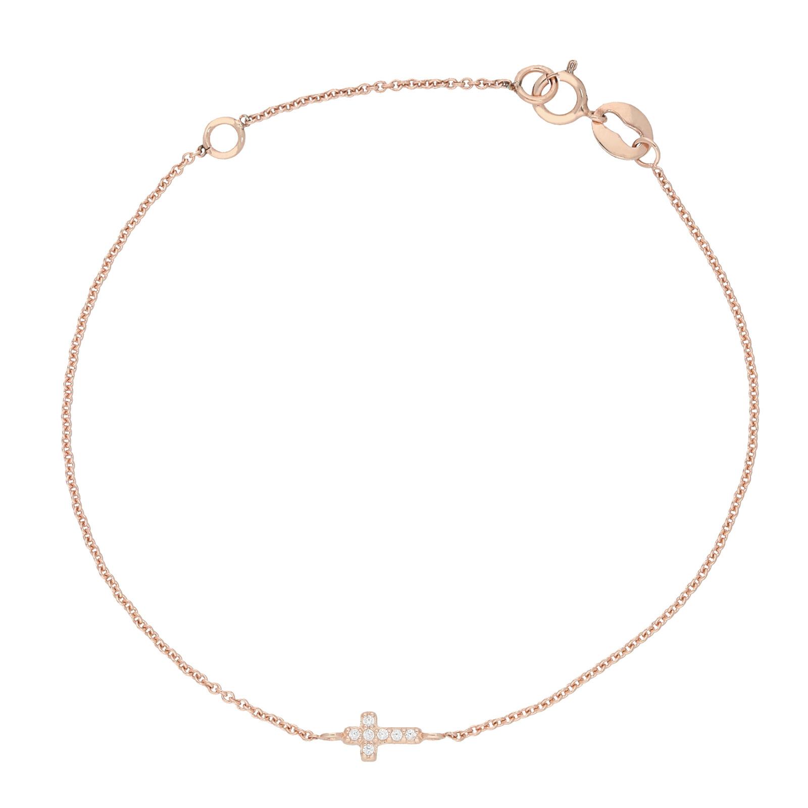 Armband Cross rosevergoldet echt Silber