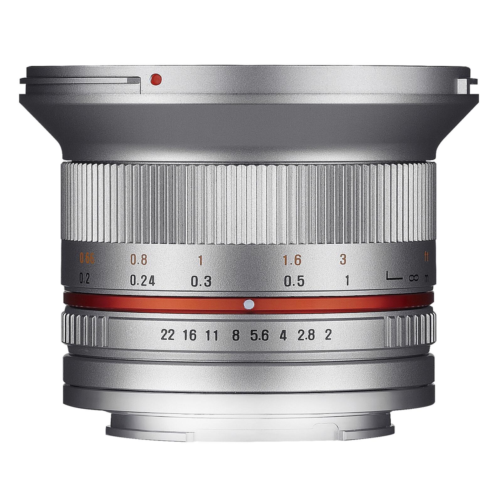 Samyang 12/2,0 APS-C Fuji X Silber