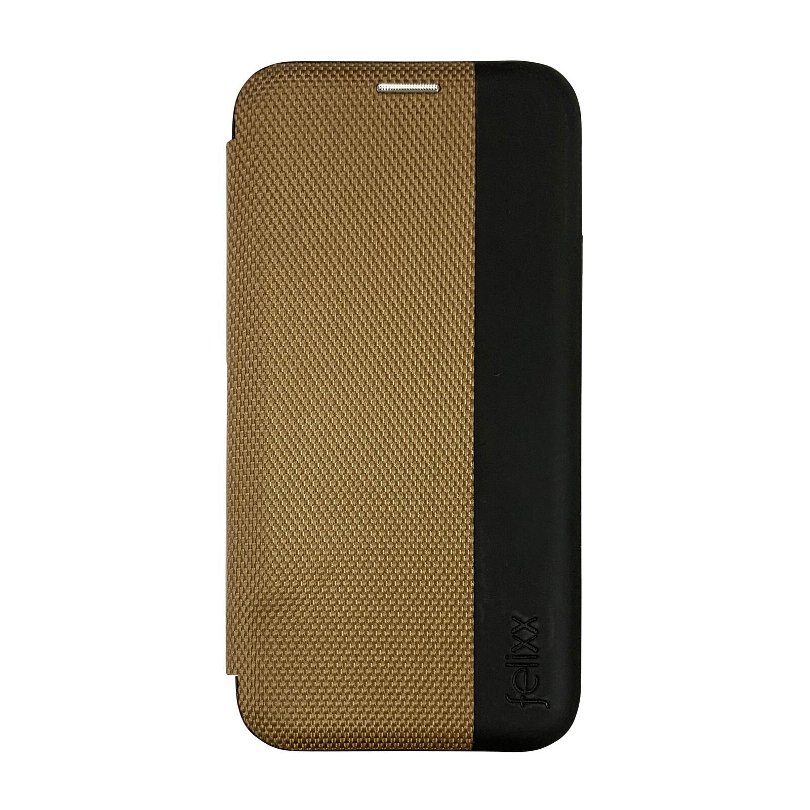 Felixx Book Tasche Lyon Apple iPhone XR Gold