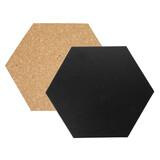 Securit Hexagon Kork-+Kreidetafeln 7Stk