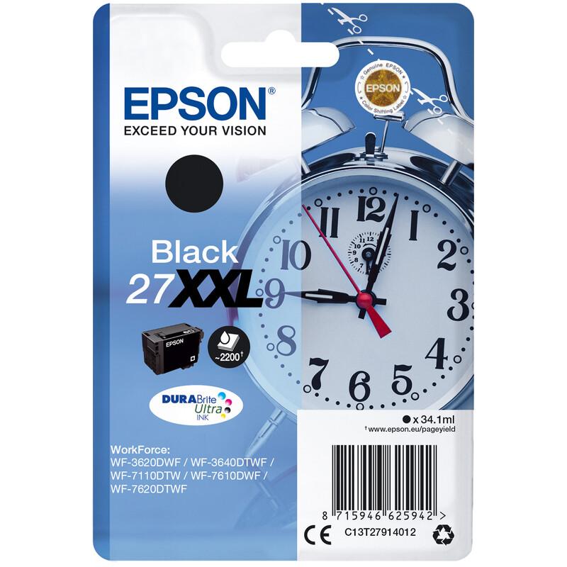 Epson 27XXL T2791 Tinte Black 34,1ml