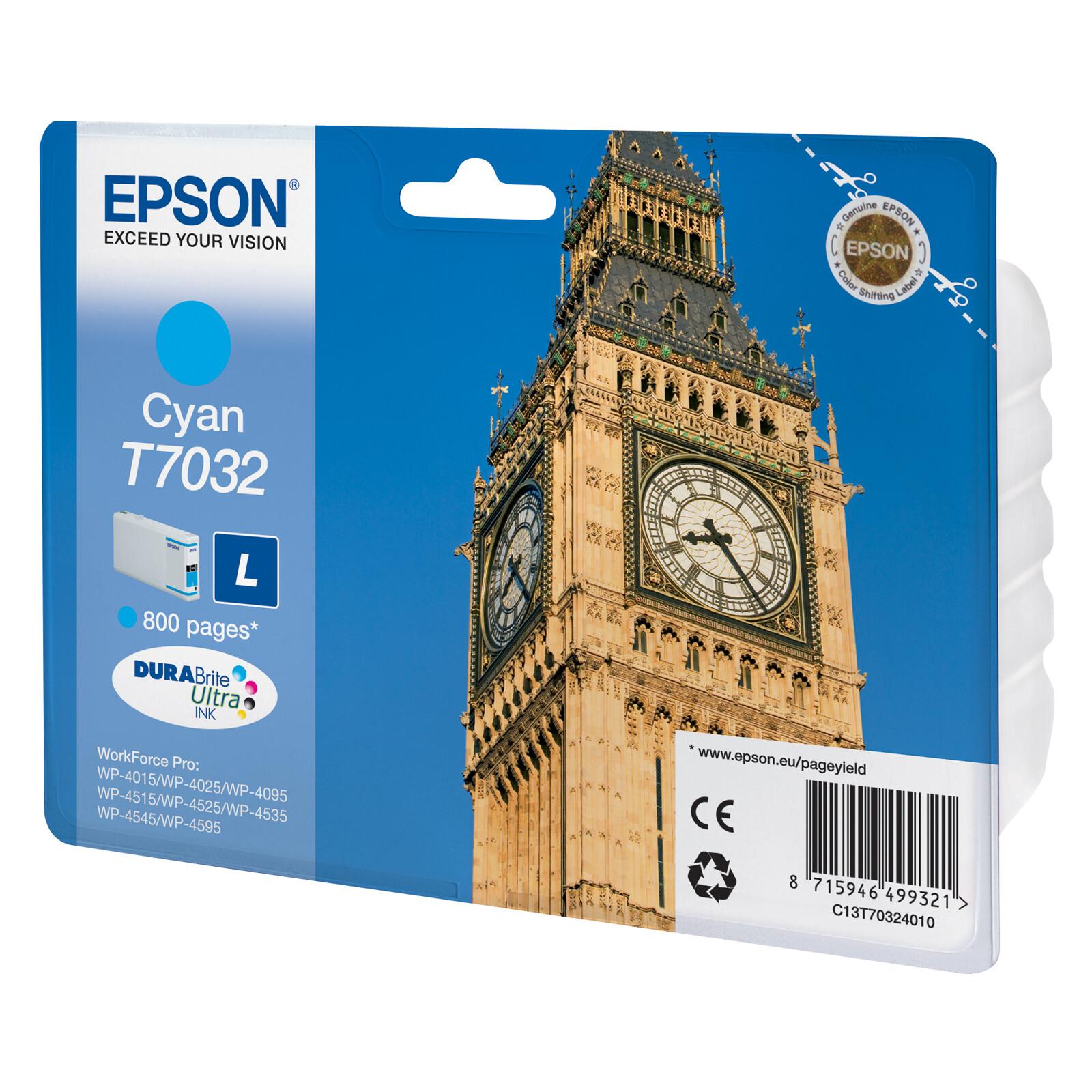 Epson T7032L Tinte Cyan 9,6ml