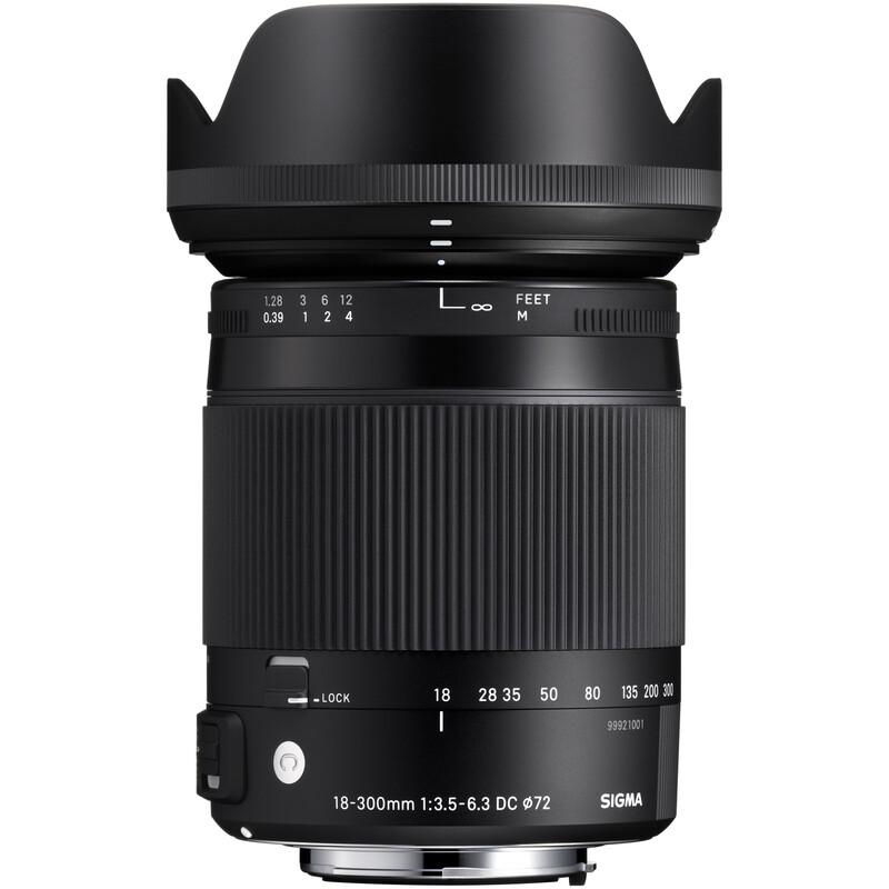 Sigma 18-300/3,5-6,3 DC OS Canon + UV Filter