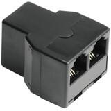 Hama 44855 Modular-Verteiler Kupplung 6p4c - 2 Kupplungen 6p