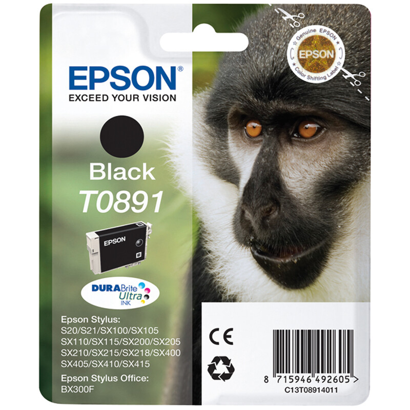 Epson T0891 Tinte Black 5,8ml