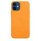 Apple iPhone 12 mini Leder Case mit MagSafe california poppy