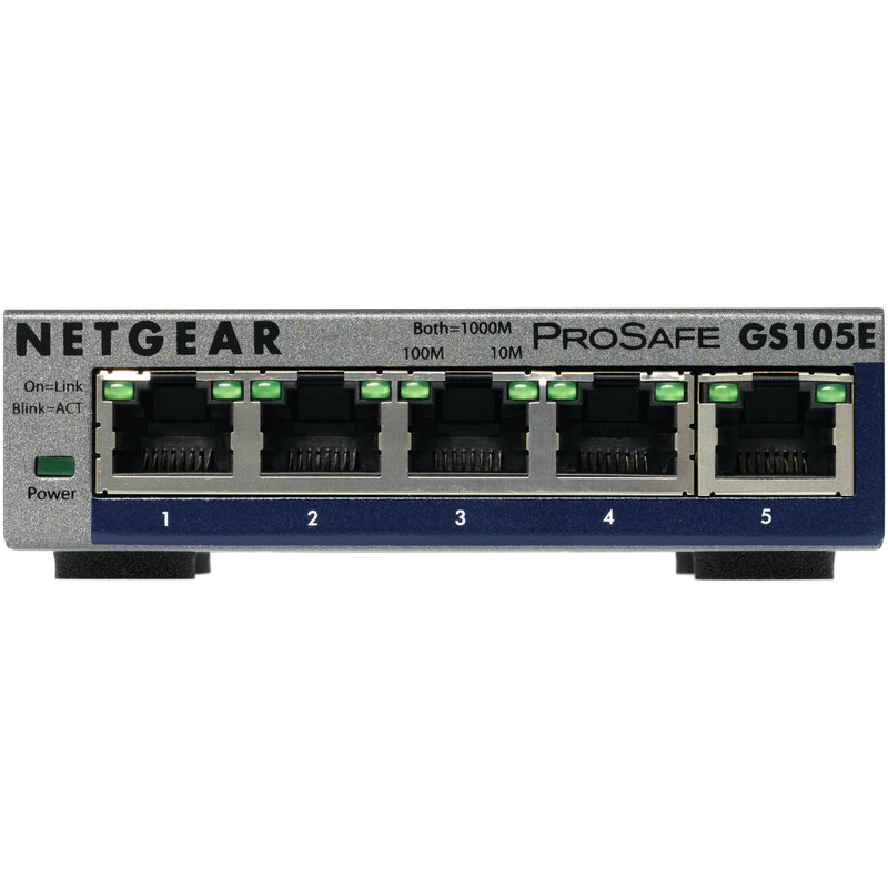 Netgear 5-Port Gigabit Plus Switch GS105E