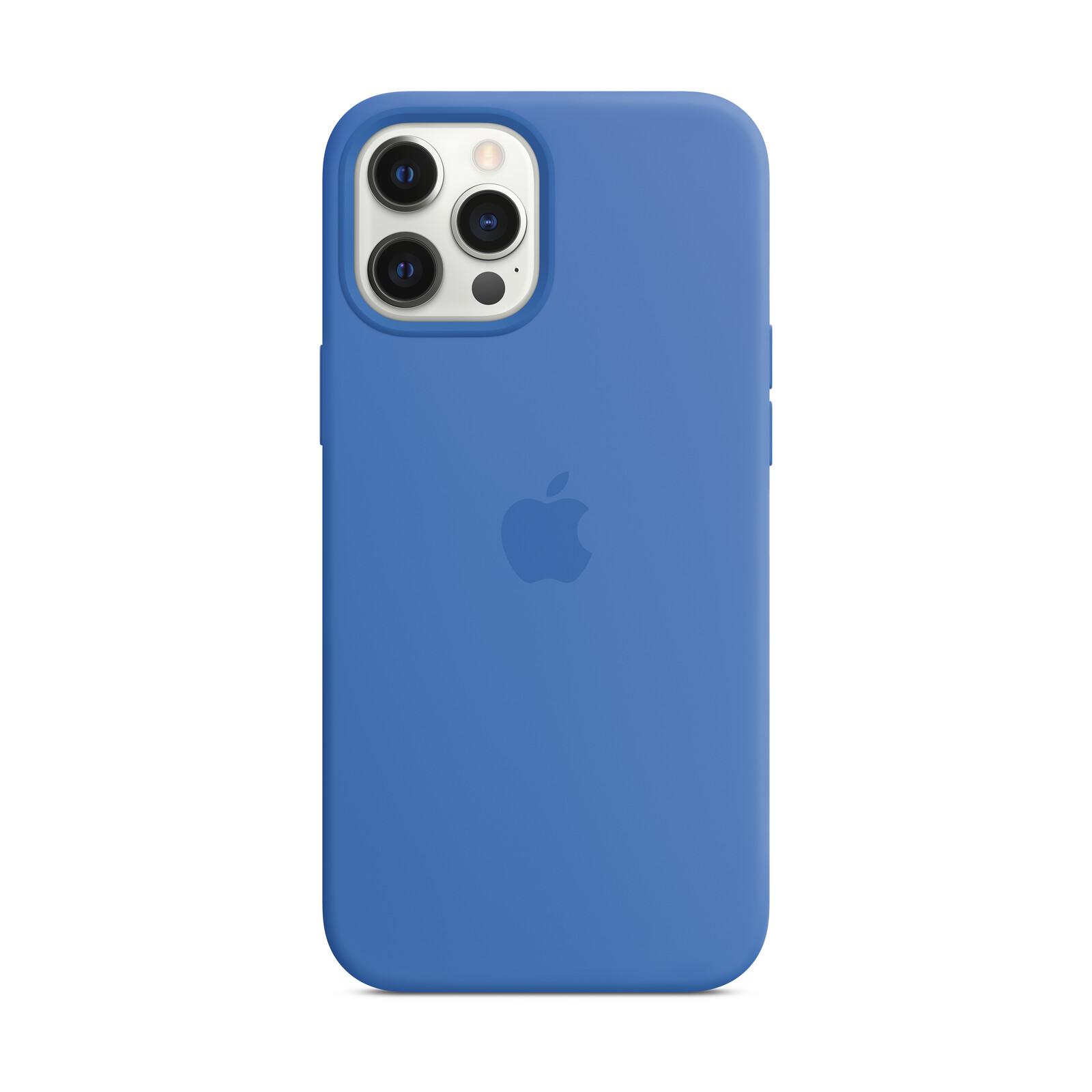Apple iPhone 12 Pro Max Silikon Case mit MagSafe capriblau
