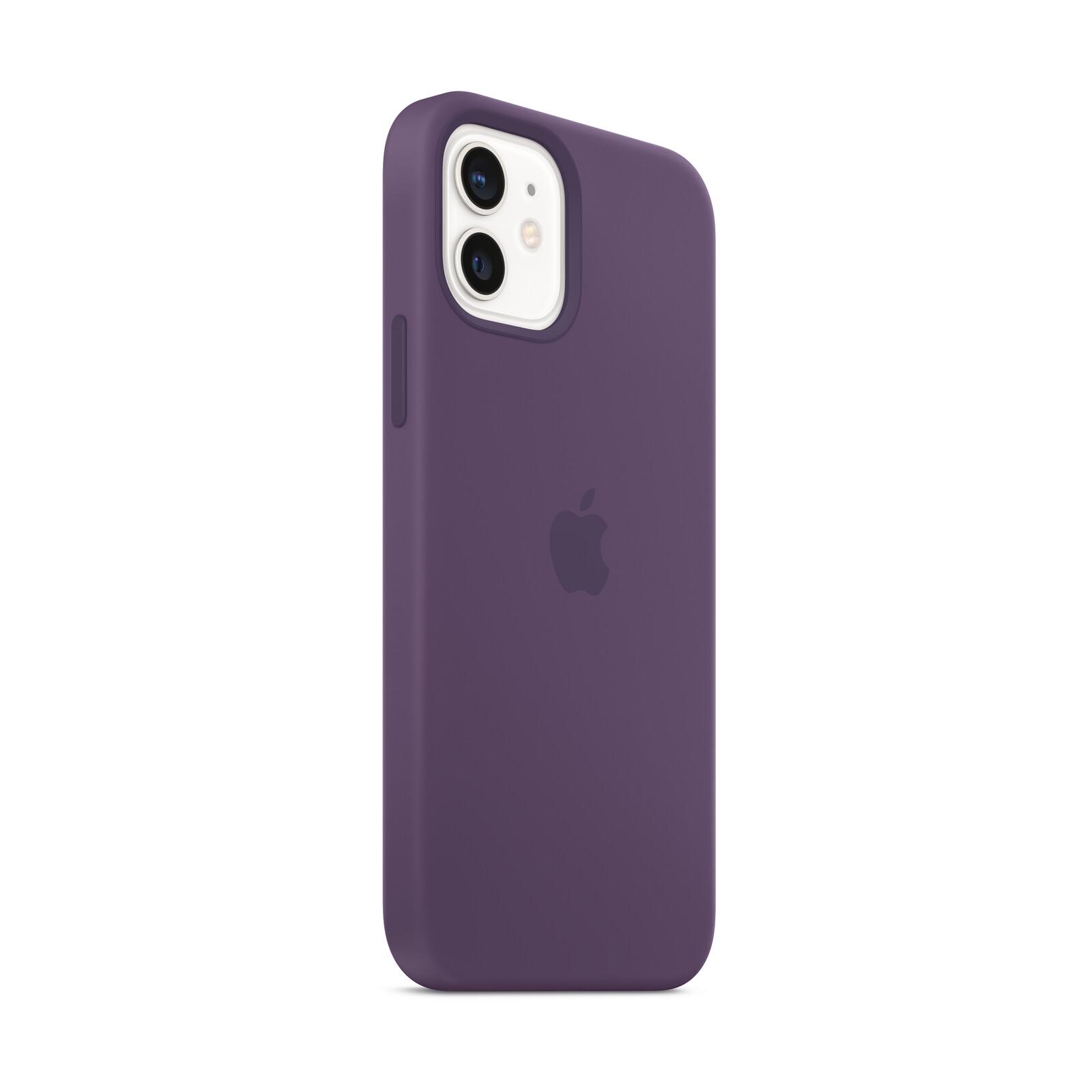 Apple iPhone 12/ 12 Pro Silikon Case mit MagSafe amethyst