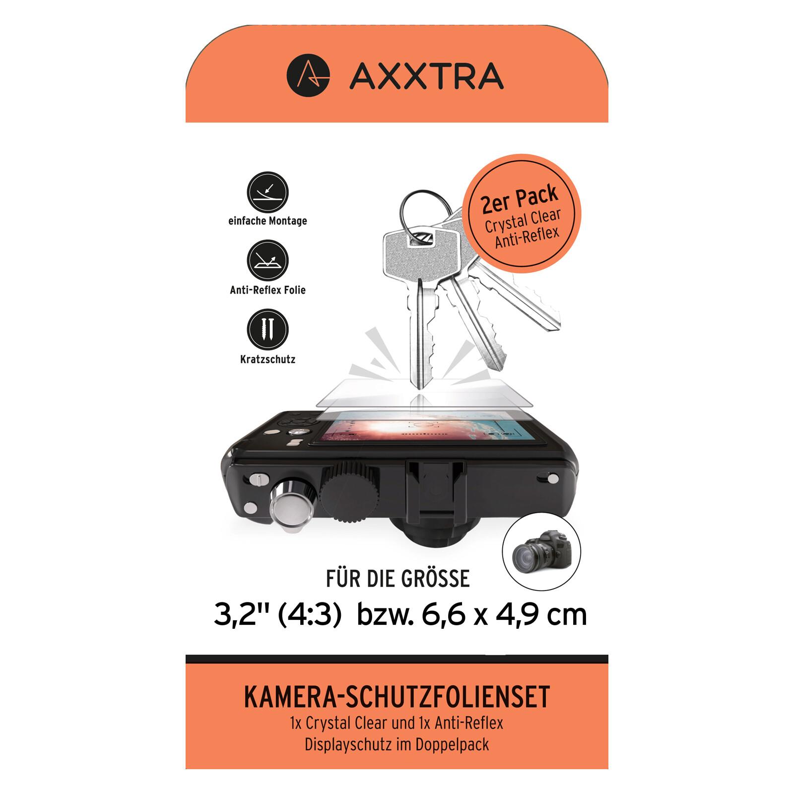 """Axxtra 3,2"""" 6,6 x 4,9cm Displayschutzfolie"""