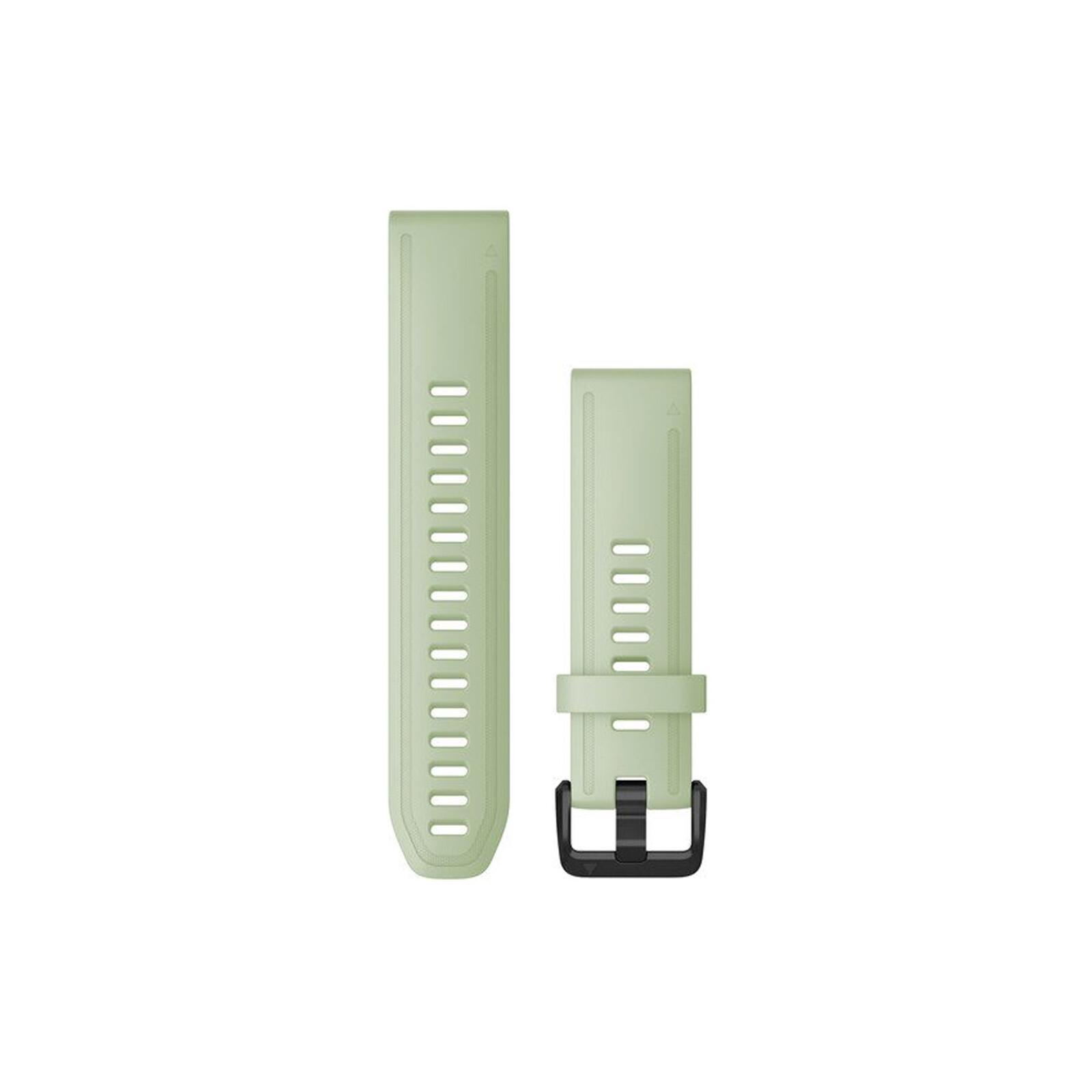 Garmin Quickfit Band 20mm Silikon pistaziengrün schwarz