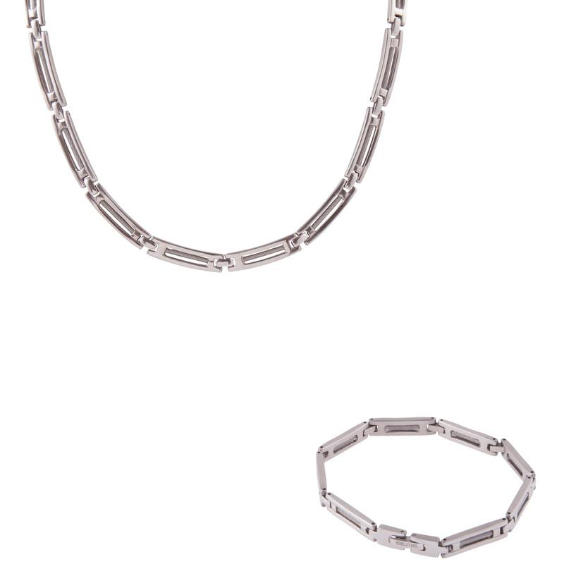 Edelstahlset Collier und Armband