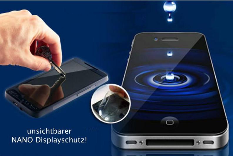 Flüssiger Displayschutz auf Smartphone