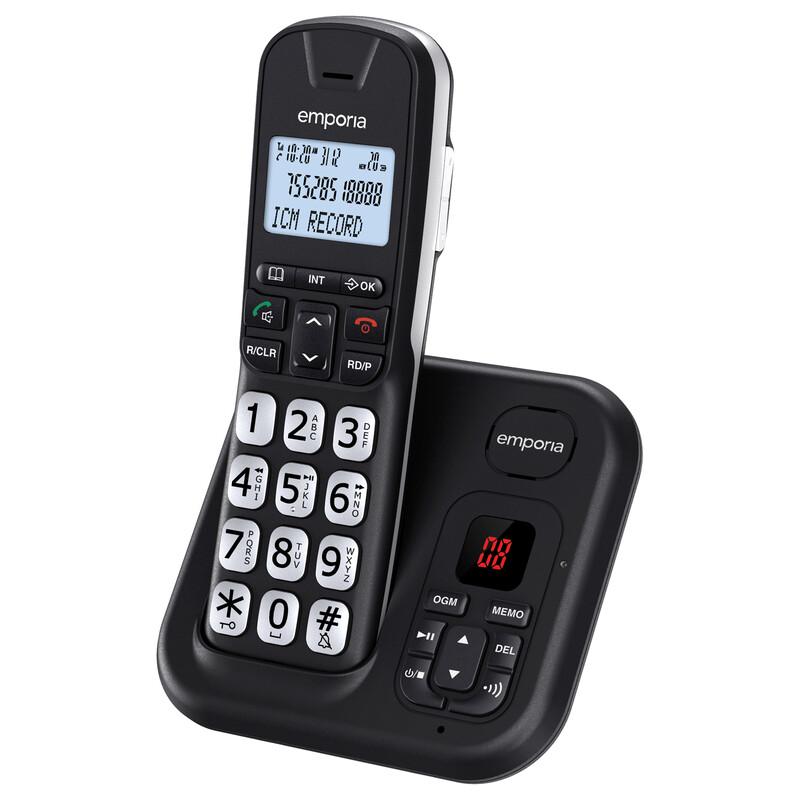 Emporia GD61AB Schnurlostelefon mit Anrufbeantworter