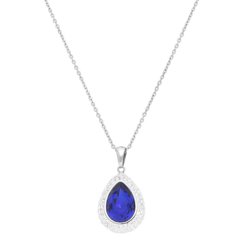 Kette Tropfen Kristalle blau Elements