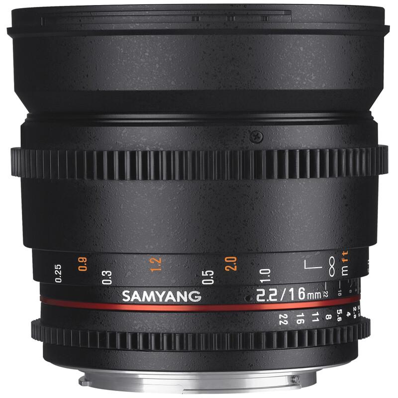 Samyang MF 16/2,2 Video APS-C II Canon EF