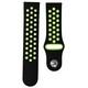 Mika Uhrenarmband Uni 22mm Silikon schwarz/grün