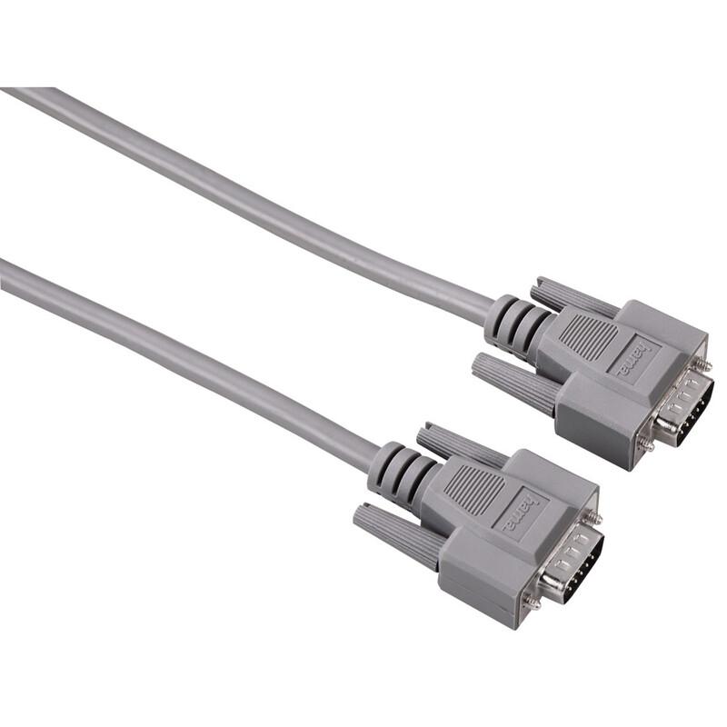 Hama 42089 VGA-Kabel, geschirmt, 1,80 m