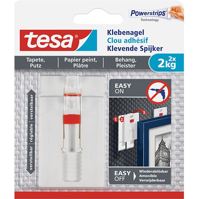 Tesa Klebenagel - verstellbar - 2 Stk