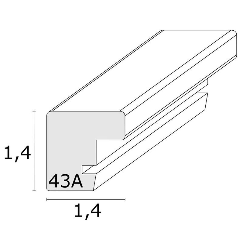 Rahmen Deknudt 15x15 weiß/schwarz