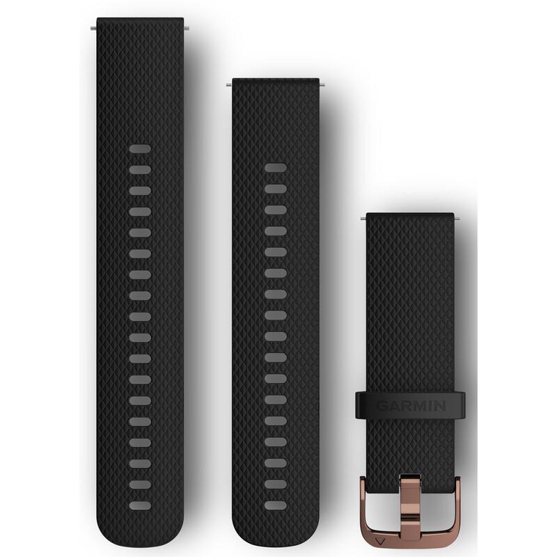 Garmin Schnellwechsel Armband Silikon 20mm Schwarz/Rosegold