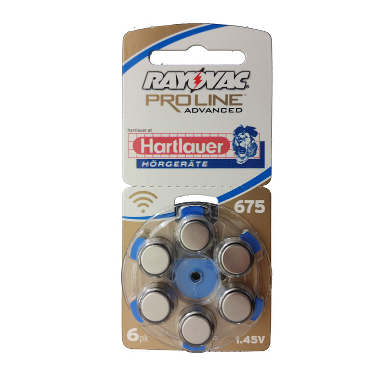 Rayovac 675 Ultra ProlineMercury Free 6er Hörgerätebatterien